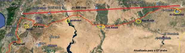 Mapas de Idlib e Al-Hassaka na Síria