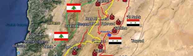 A fronteira síria libanesa de Al-Qalamoun