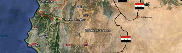A reabertura da estrada Hama-Aleppo