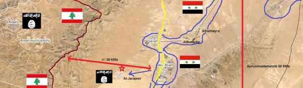 A estrada Homs Damasco em Al-Qalamoun