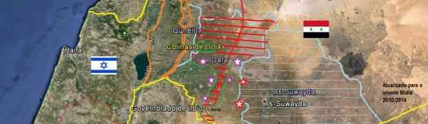 O fronte sul de Daraa na Síria