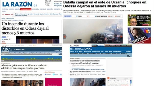 """As manchetes publicadas na mídia hispana sobre incêndio em Odesa evitam mencionar os autores ou dizer quem foram as vítimas. Isso pode ter passado despercebido por muitos, mas outros perguntam  indignados: """"O que estão tentando nos vender?"""""""
