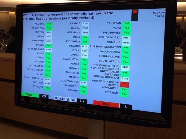 Conselho de Direitos Humanos das Nações Unidas aprovou a formação de comissão para investigar governo de Benjamin Netanyahu por crimes de guerra.