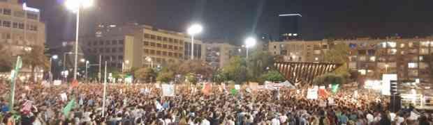 Manifestantes pedem negociações de paz com palestinos em protesto em Tel Aviv