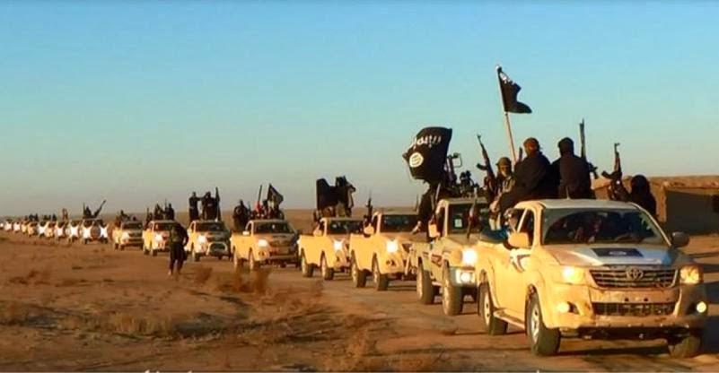 Comboio do ISIS, na província de Anbar, Iraque