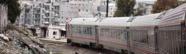 Trem de Aleppo volta a funcionar pela primeira vez em quatro anos