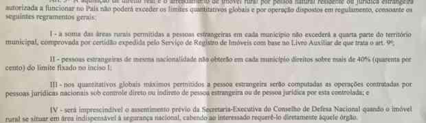 O governo Temer prepara MP para a venda de terras a estrangeiros